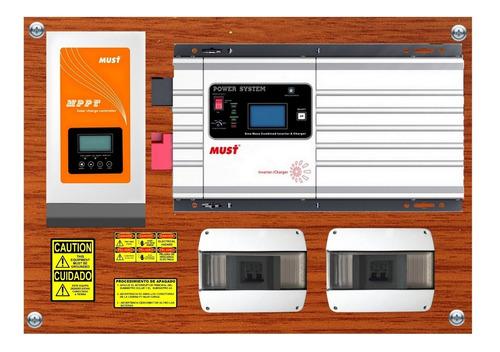 must solar inversor baja frecuencia 3kw/9kw regu mppt 80a