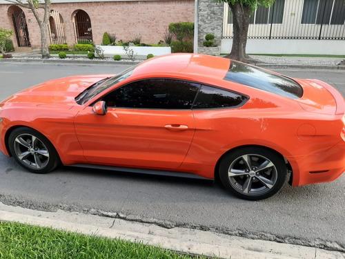 mustang v6 2015  naranja, factura de agencia, impecable