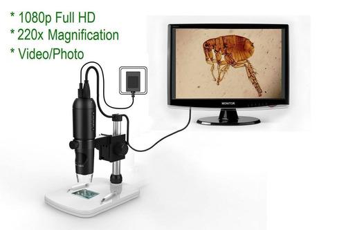 mustcam 1080p full hd microscopio digital, mi + envio gratis