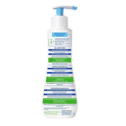 mustela gentle cleansing gel, baby hair - body wash, fórmula