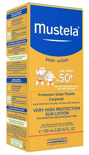 mustela protector solar corporal 100ml