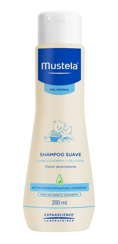 mustela shampoo suave 200 ml piel normal
