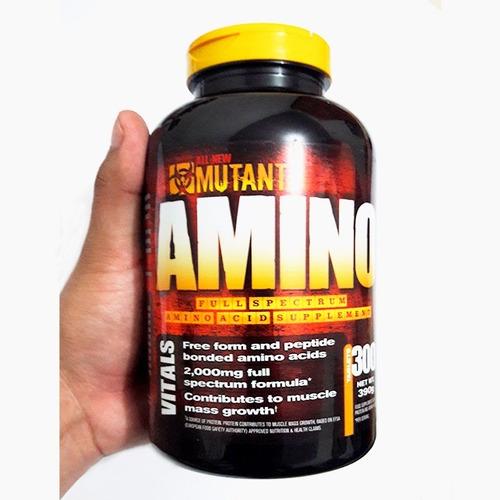 mutant animo 300 cap aminoácidos genera masa muscular