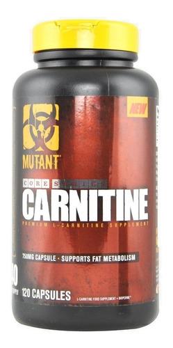 mutant carnitine 120 capsulas carnitina super oferta!