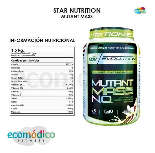 mutant mass 2 x 1,5kg + vaso-star nutrition