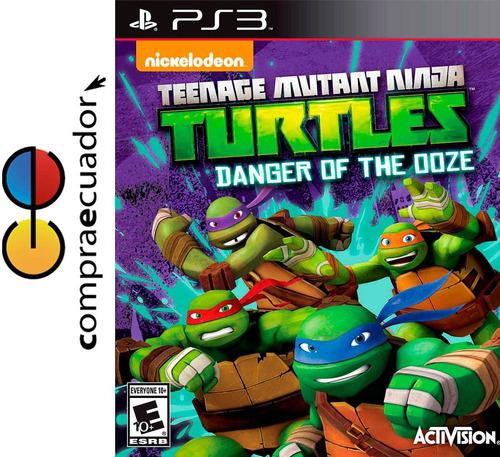 mutant ninja turtles: danger of the ooze, ps3 sellado nuevo