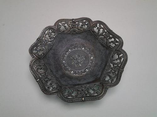 muy antigua bandeja, centro de mesa italiano,bronce,caba