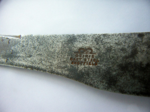 muy antigua cuchilla cast steel sheffield - platería criolla