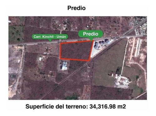 muy bien ubicado terreno de 3.4 has en la carretera umán-kinchil, yuc.