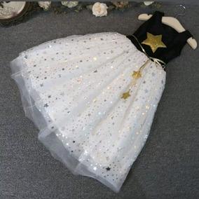 85792b34f0 Muy Bonitos Vestidos Para Niñas Con Brillos Y Estrellas