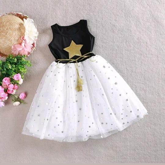 Muy Bonitos Vestidos Para Niñas Con Brillos Y Estrellas