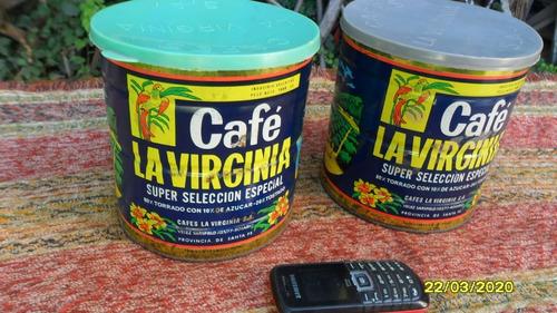 muy buen antigua lata café la virginia 1972 1 kg $ c/u