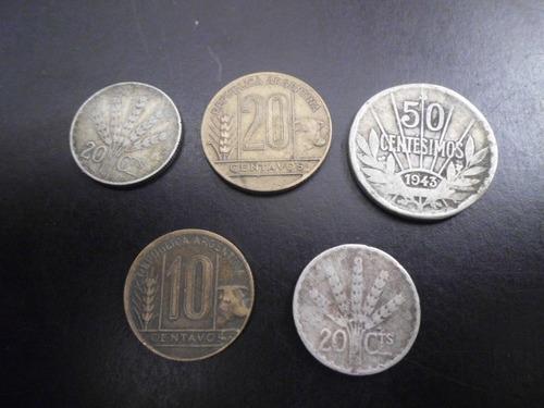 muy buen lote de monedas uruguayas y argentinas