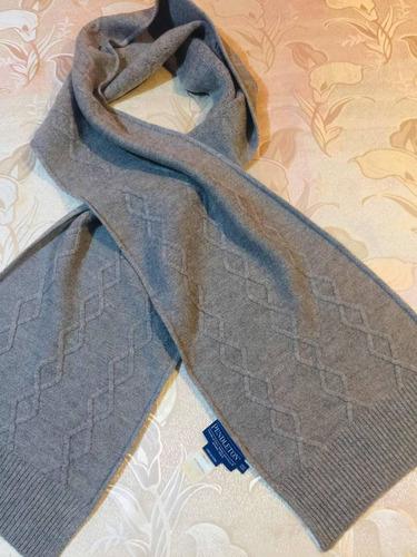 muy fina bufanda lana merino pendleton, hombre