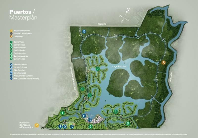 muy lindo lote con gran costa al lago central bº muelles 123