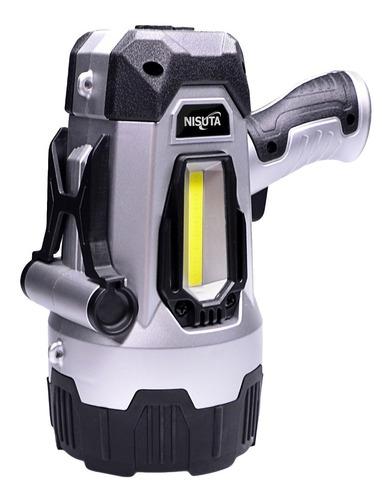 muy potente linterna recargable led 10w 100 metros nisuta