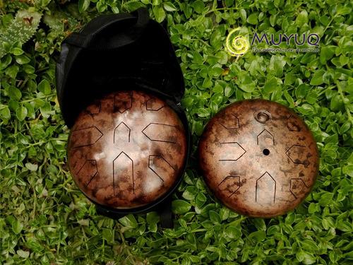 muyuq steel tongue drum (tambor melódico) / doble 17 notas