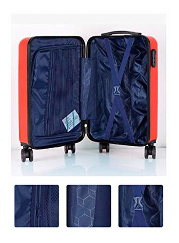 Black The Latest Style 20//22//24//26 Inches Simple Muziwenti Carry Suitcase Simple and Color : Blue, Size : 20 Hard Case Rotating Suitcase