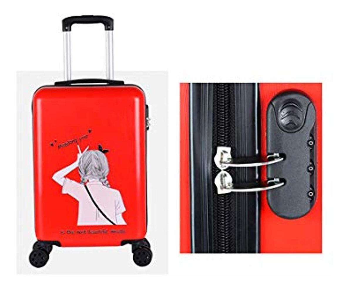 Rotating Suitcase Black The Latest Style Hard Case Color : Red-2, Size : 22 Simple and Simple Muziwenti Carry Suitcase 20//22//24//26 Inches