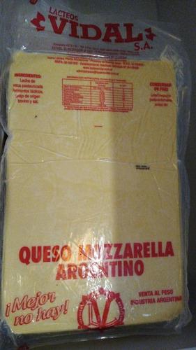 muzzarella vidal 25 kg atencion a pizzerias y restaurantes