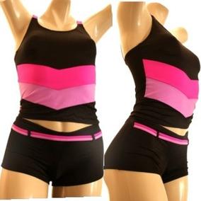 8aca882261f8 Mx852 Trajes De Baño Completos Femeninos Short Blusa Lycra