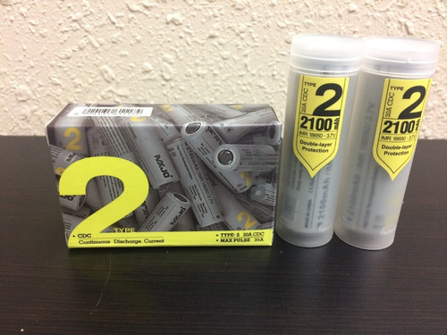 mxjo 18650 2100mah recargable bateria typo-2 20a genuina