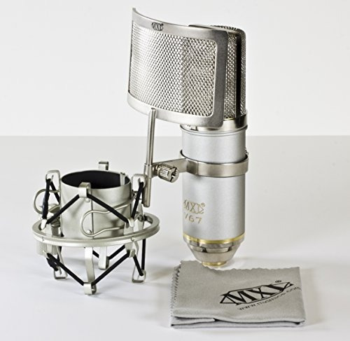 mxl v67g he heritage micrófono condensador de cápsula grande