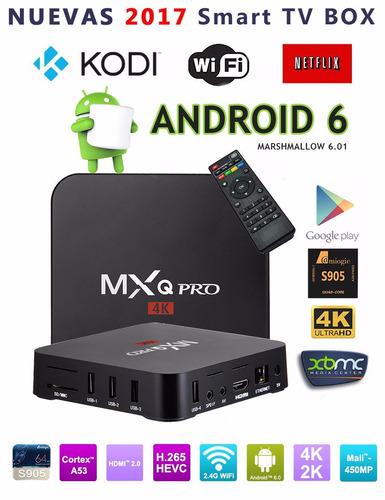 mxq pro 4k tv box kodi 17.1 android 6 quad core s905x