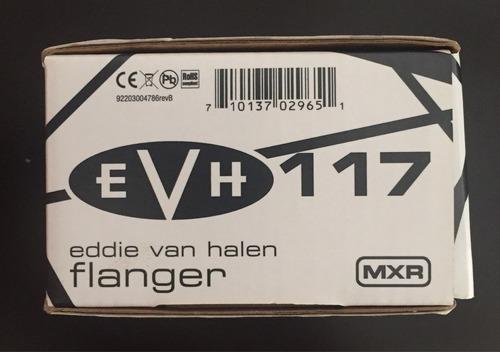 mxr evh 117 flanger pedal + eliminador original