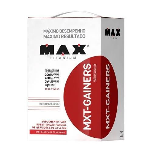 mxt gainers - 3kg - max titanium - baunilha