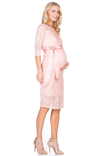 My Bump Womens Premium Lace Baby Shower Party Knee Length Ma