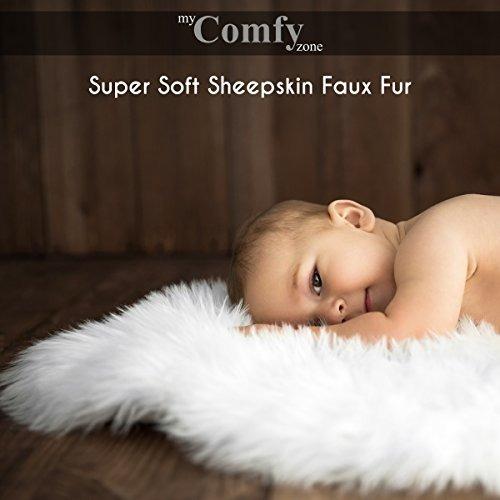 my comfy zone piel de oveja piel sintética cubierta de la