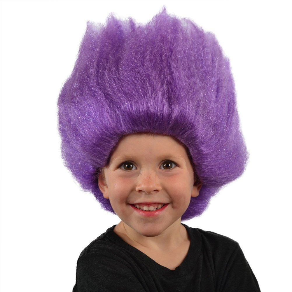 My Costume Wigs Purple Troll Wig Purple Un Tamaño Para To ... d63f050286b0