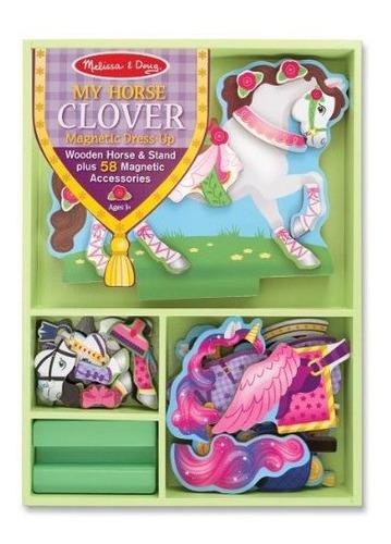 my horse clover vestido magnetico up doll y stand de madera