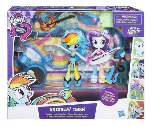 my little pony clase de musica rock rainbow dash (4230)