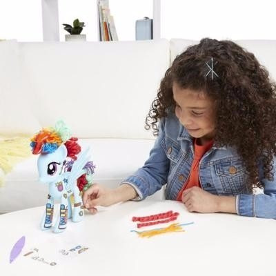 my little pony decora-un-pony - rainbow dash b3593 hasbro