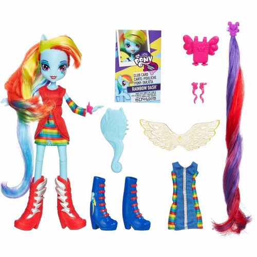 my little pony equestria girl acessórios rainbow dash hasbro