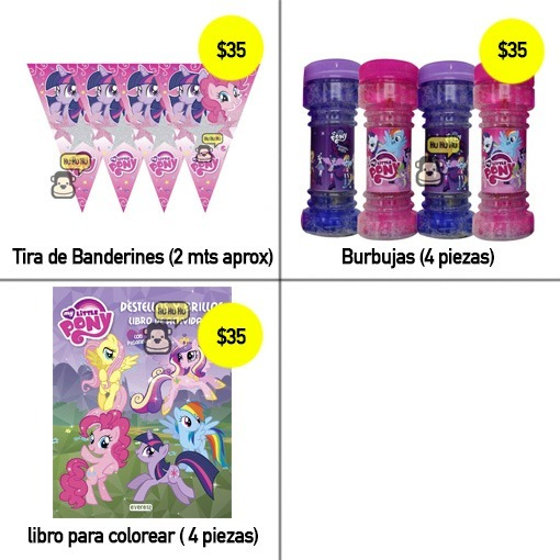 My Little Pony - Platos, Vasos, Desechables - Fiesta! - $ 35.00 en ...