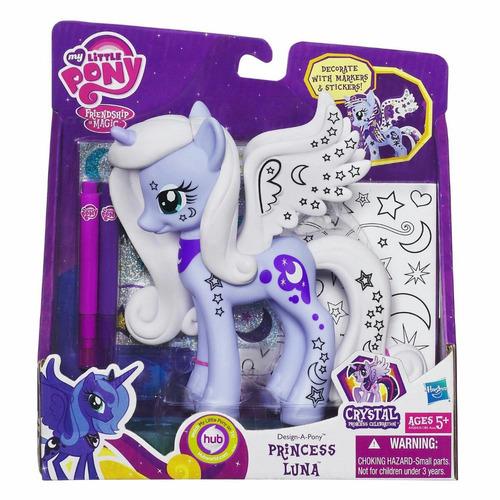 my little pony princesa luna con accesorios para decorar!