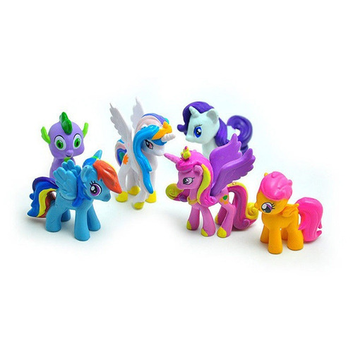 my little pony set x 12 unidades con personajes principales