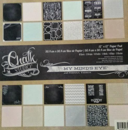 my mind's eye paper pad 30x30cm chalk studio