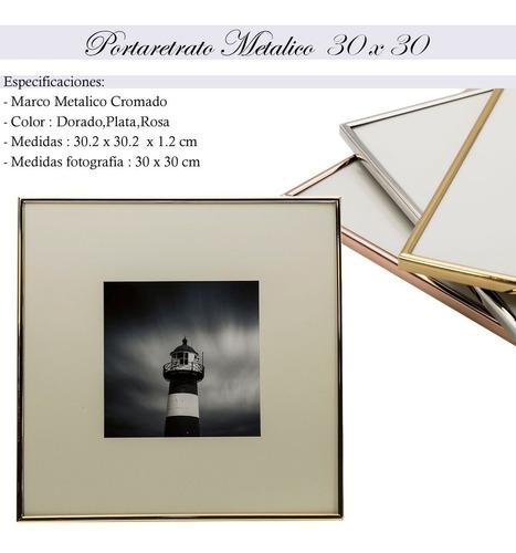 my portaretrato marco metal decoracion hogar oficina 30x30 boda 12001  fotos cuadros decorativos moda mayoreo