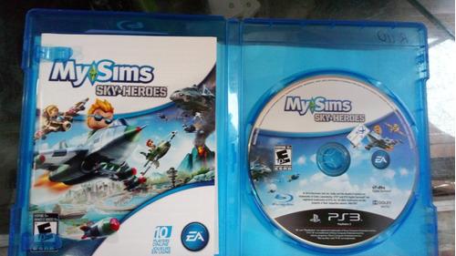my sims sky heroes ps3 original físico envio dur curentena