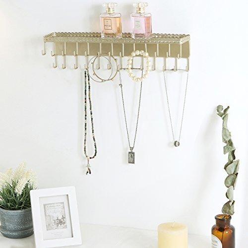 MyGift montado en pared Brass-tone Metal espirales dise/ño organizador de joyas accesorio de W//20/para colgar ganchos