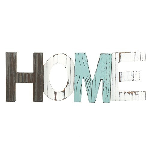 mygift rustic wood home signo decorativo pie recortable word