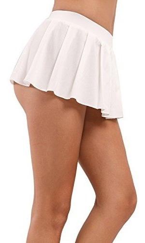 myifu mujeres sexy rol plisado mini falda solido volantes le