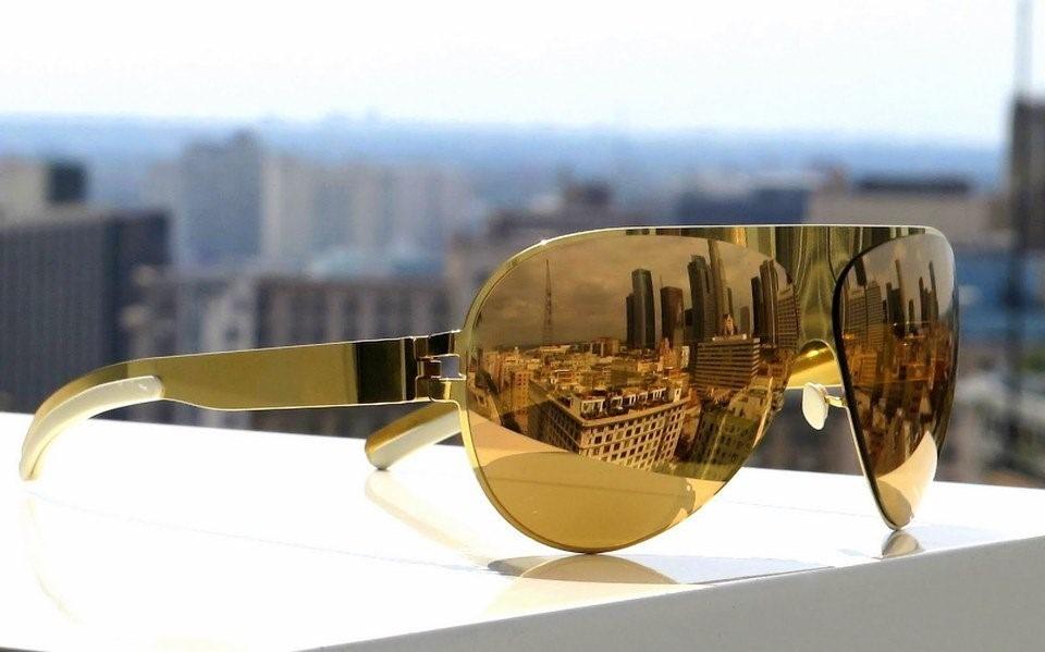 9cf2764a37bf3 mykita - óculos franz espelhado dourado. Carregando zoom.