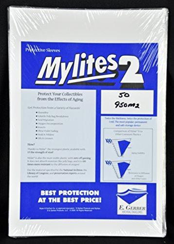 Mylites 2 Mylar Sleeves Para Partituras Y Revistas Grandes
