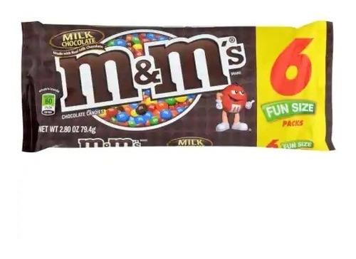 mym fun size milk chocolate x 6 unidades - kg a $22
