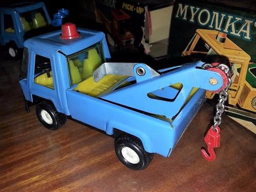 myonka camiones grua juguete antiguo caja originales